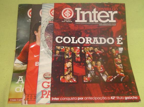Lote Com 4 Revistas Do Inter - Frete Grátis -cód. 554