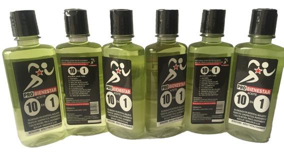 6 Botellas Aceite Para Masaje, Estres, Relajacion Y Deportes