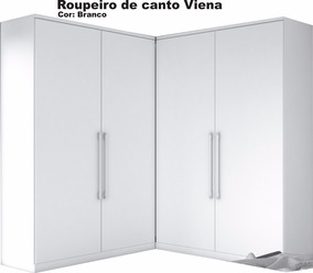 Armário De Canto 100%mdf 1,38m X1,46m Viena Móveis Europa