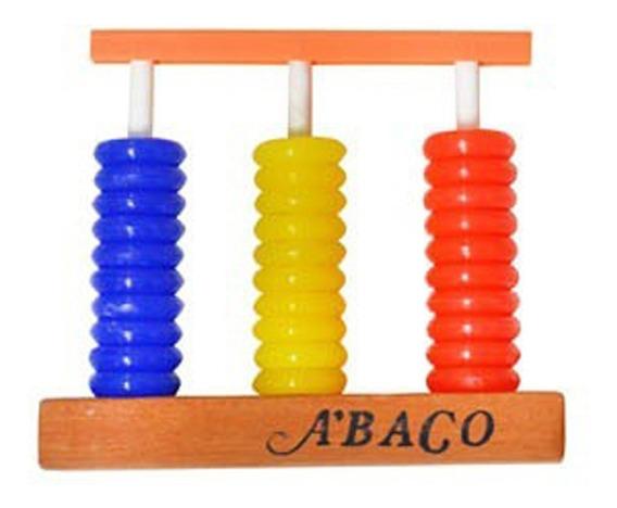 Abaco Martiz 3 Columnas 10 Anillos Base Madera