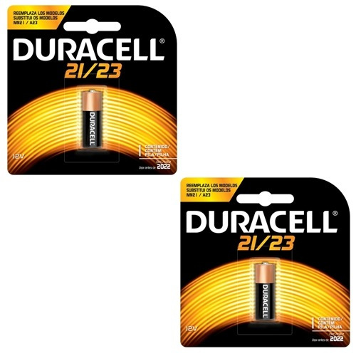 2 Baterias Duracell 21/23 Alcalina 12volts Alarmes/campainha