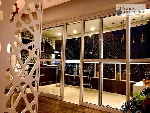 Imagem 1 de 25 de Apartamento Com 3 Suítes ( Espaço Gourmet - 3 Vagas ) `a Venda De 145,00 M² Por R$ 944.000 - B. Baeta Neves - São Bernardo Do Campo/sp - Ap0724