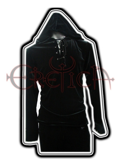 Eretica Ropa Dark-camisa Terciopelo Gorro-rock-metal