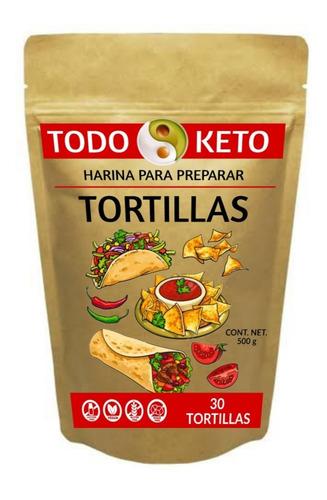 Imagen 1 de 3 de Harina Keto Para Hacer Tortillas Low Carb Sin Gluten