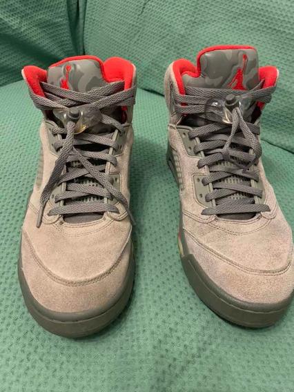 Air Jordan 5 Olive Camo 10 Us/42 Br (enviando Normalmente)