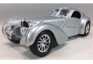 Miniatura Bugatti Atlantic Prata Burago 1/24
