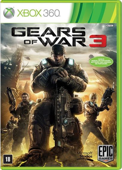 Jogo Gears Of War 3 Xbox 360 Ntsc Midia Fisica Original