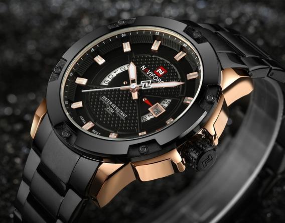 Relógio De Pulso Naviforce Luxo Esportivo Nf 9085