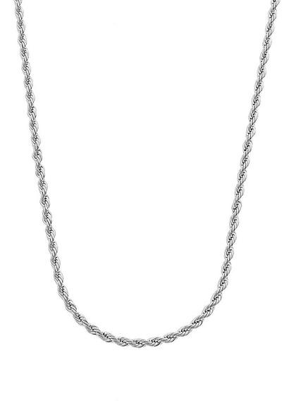 Promoção Colar Feminino Cordão Baiano Prata Maciça 925 50cm