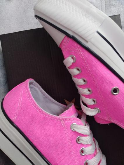 Zapatillas Tipo Converse Plataforma
