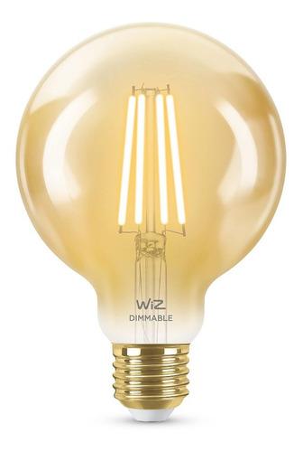 Imagen 1 de 10 de Lampara Led Wiz Wifi Filamento Globo E27 6.9w