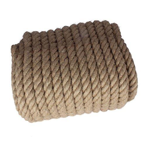 /Cuerda fibras naturales, yute, gedreht roc/ío de c/á/ñamo y yute 30/m 20/mm/