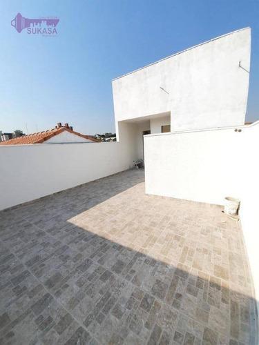 Cobertura Com 2 Dormitórios À Venda, 76 M² Por R$ 269.000,00 - Vila Curuçá - Santo André/sp - Co0470