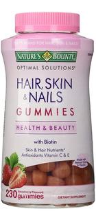 Hair Skin Nail Gummies Biotin Biotina Cabello Piel Uña Gomas