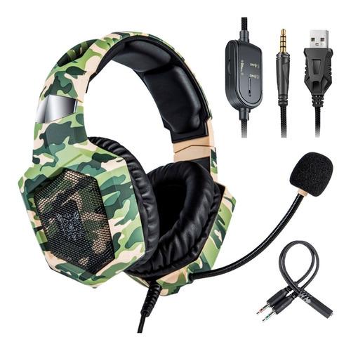 Auricular Gamer Pc Ps4 Xbox Gaming Con Microfono Led Cuotas