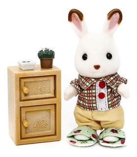 Sylvanian Families Baño Y Figura Chocolate Rabbit Brother