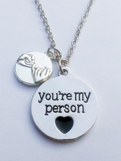 Cordão Colar Greys Anatomy You Are My Person Promessa
