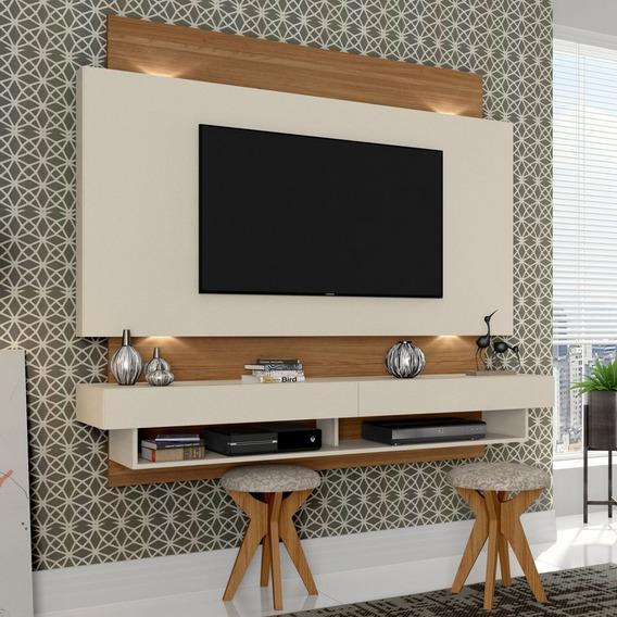 Painel P/ Tv 180cm 2gavetas Com Leds Tb115l Wj Dalla Costa