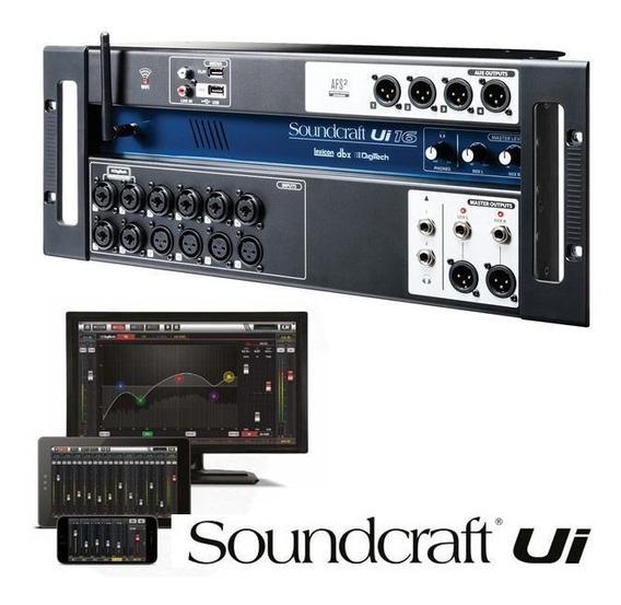 Mesa Som Digital Soundcraft Ui16 16 Canais Tablet Celular