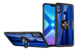 Capa Anti Impacto Com Anel Huawei Honor 8x+pelicula De Vidro