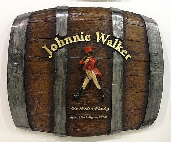 Barril Horizontal De Parede Decorativo - Johnnie Walker