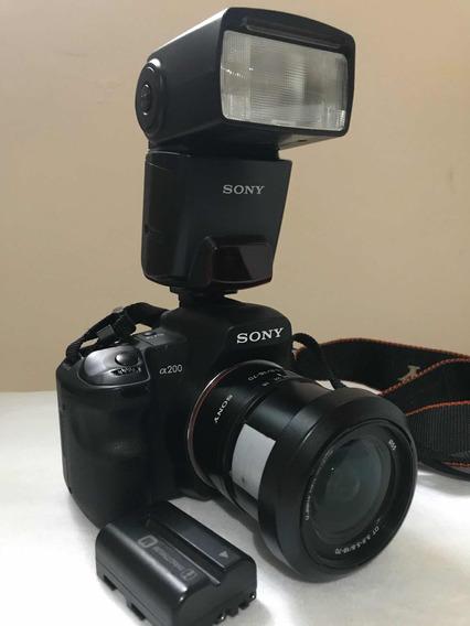 Câmera Sony Alpha A200+bateria Reserva+2 Cartões Memória