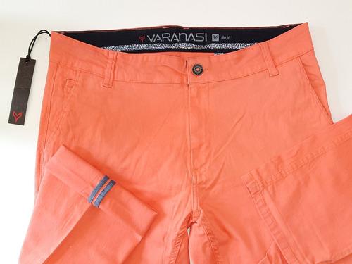 Pantalon Skinny Varanasi Casual Gabardina Stretch Moda Hom