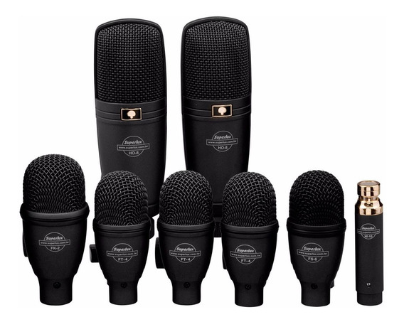 Kit Microfone Bateria Superlux Drkf5h3 Kit C/ 8 Mics
