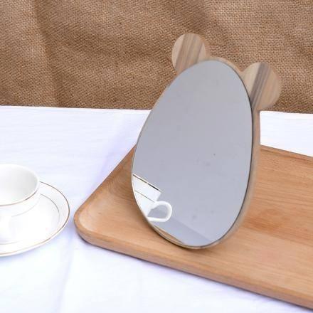 Espelho De Mdf Delicado Formato De Cabeça De Urso