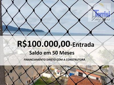 Apartamento Em Praia Grande, 01 Dormitório, Vista Pro Mar, Na V. Guilhermina, Ap2076 - Ap2076