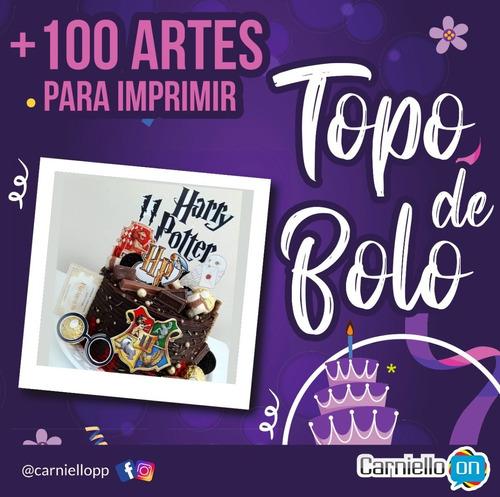 Topo - Topper De Bolo - Kit Com 100 Arquivos