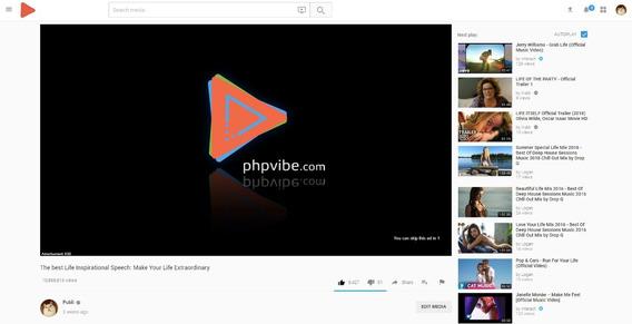 Phpvibe - Video Cms Licença - Plataforma Completa!