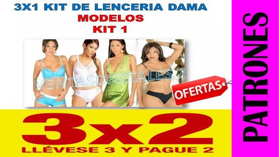 Patrones Lenceria Femenina Sostenes Tangas Blumer Pijama