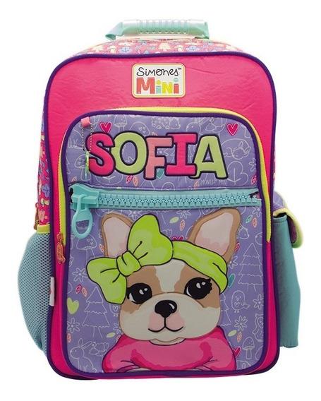 Mochila Simones 18 Pulgadas De Espalda Sofia Escolar Original Si651 Mapleweb