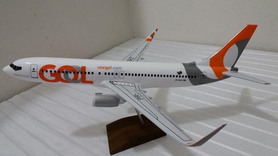 Miniatura De Avião 737-800 Gol Pintura Nova
