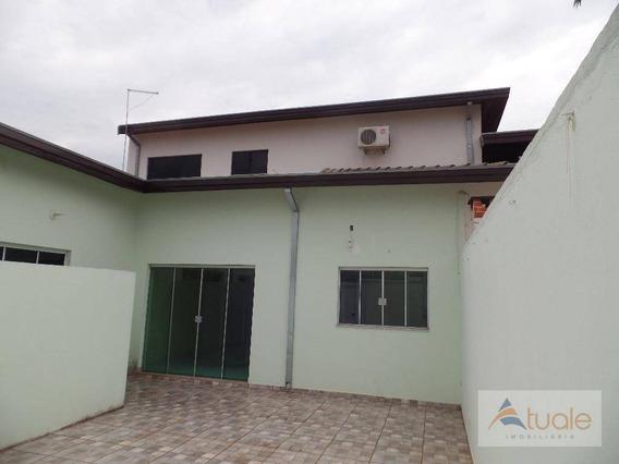 Casa Com 2 Dormitórios Para Alugar, 70 M² - Jardim Macarenko - Sumaré/sp - Ca4365