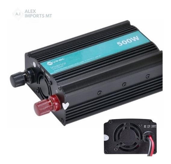 Conversor Potência Veicular 500w Converte 12v P/ 110v