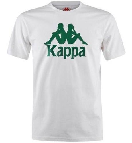 Remera Kappa 222 Banda Estessi Slim White/green 985