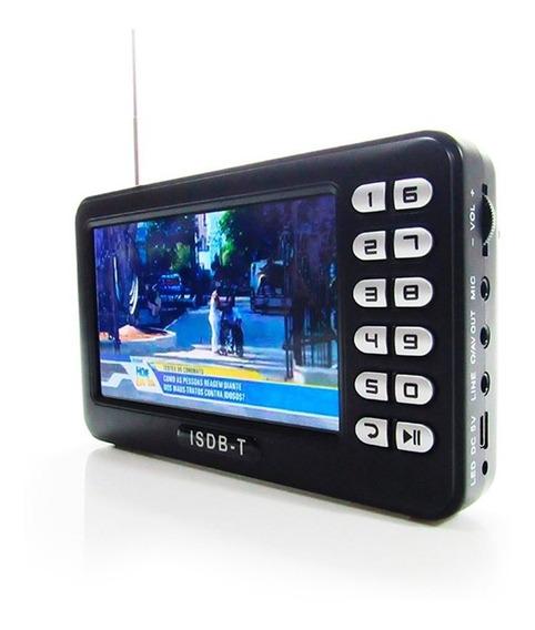 Tv Portatil Digital 4.3 C/ Radio Fm, Entrada Usb E Sd