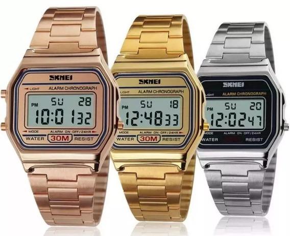 Relógio Feminino Skmei Digital 1123 Prata