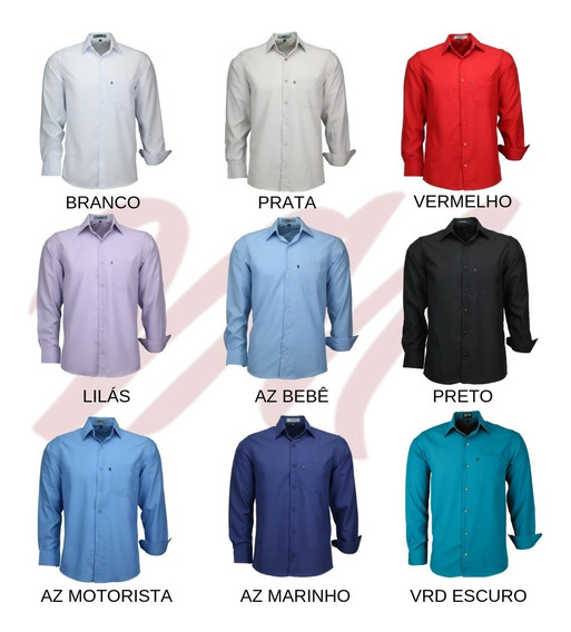 Kit 4 Camisas Social Masculina Microleve Ml Frete Grátis Top