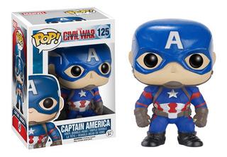 Figura Muñeco Funko Pop Marvel Capitan America 125 Original