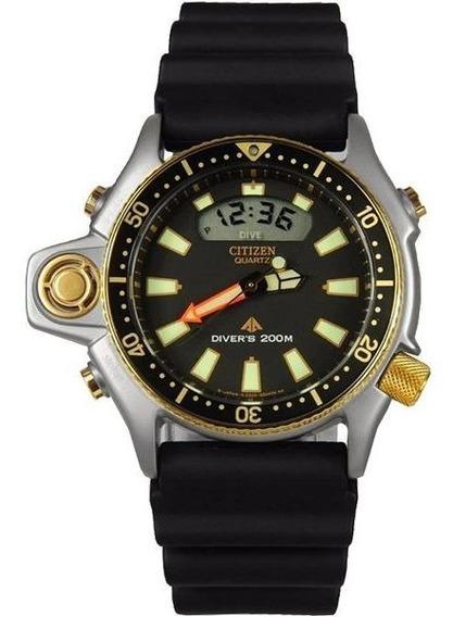 Relógio Citizen Aqualand Série Ouro Jp2004-07e   Tz10137p