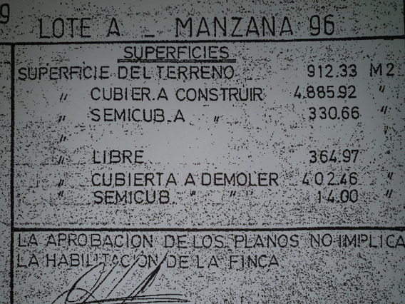 Terreno. Espacio Aéreo C/planos P/edificio. San Lorenzo 2500