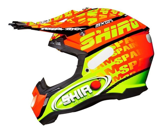 Capacete Shiro Mxon Composto De Carbono Mx 917 Cross Motocross Trilha Enduro