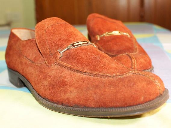 Sapato Social Masculino De Couro Revestido Com Camurça