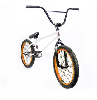 Bicicleta Bmx Fad Liviana Y Resistente! Blanca Y Naranja Pro