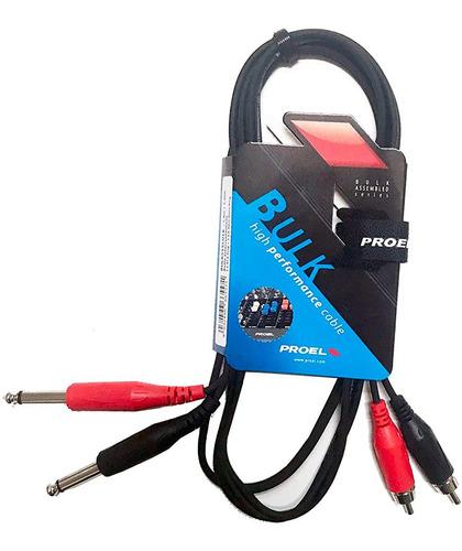 Cable 2 Rca 2 Plug Mono Proel Bulk555lu3 3 Metros