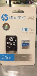 Memoria Hp Micro Sd 64 Gb Clase 10 C/adaptador