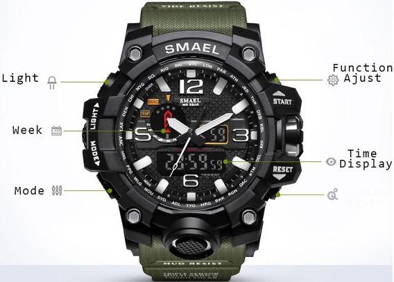 Relógio Masculino Analógico E Digital Militar A Prova D